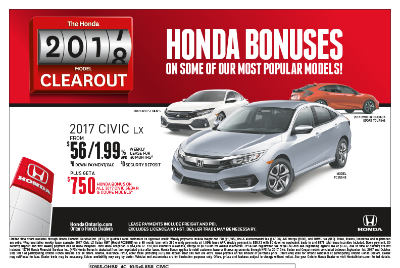 2017 Honda Civic LX | The Honda Model Clearout