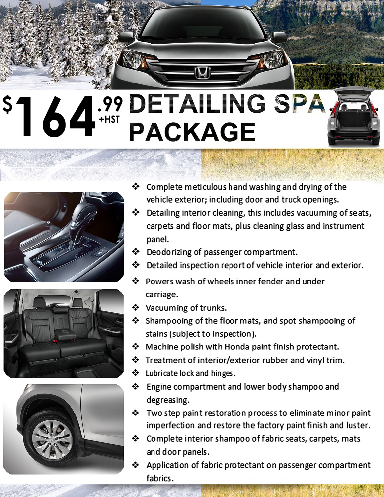 Full Detailing Package Special at Honda Downtown Toronto