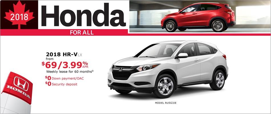 2018 Honda HR-V LX | Honda For All
