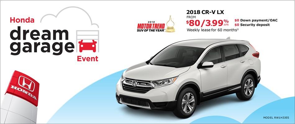 2018 Honda CR-V LX | Honda Dream Garage Event