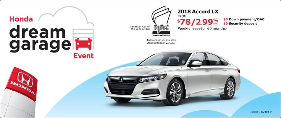 2018 Honda Accord LX   Honda Dream Garage Event