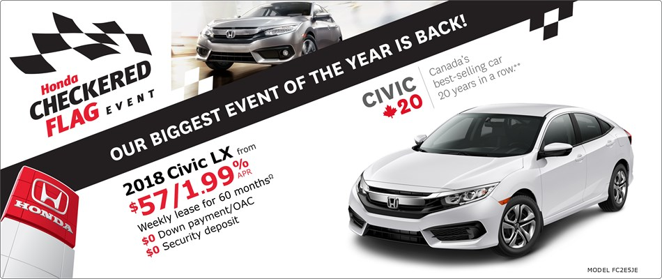 2018 Honda Civic LX | Honda Checkered Flag Event