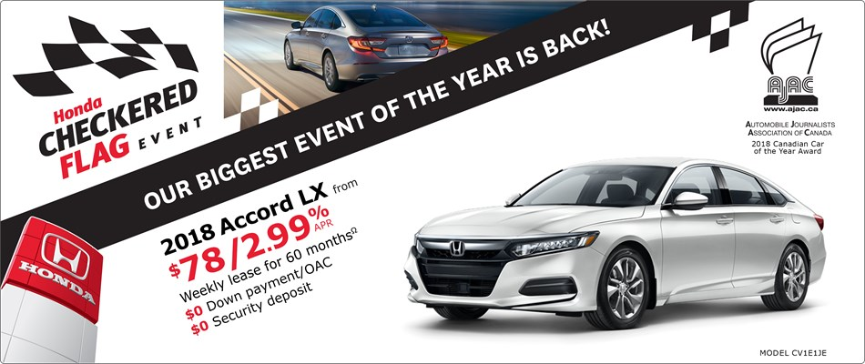 2018 Honda Accord LX | Honda Checkered Flag Event