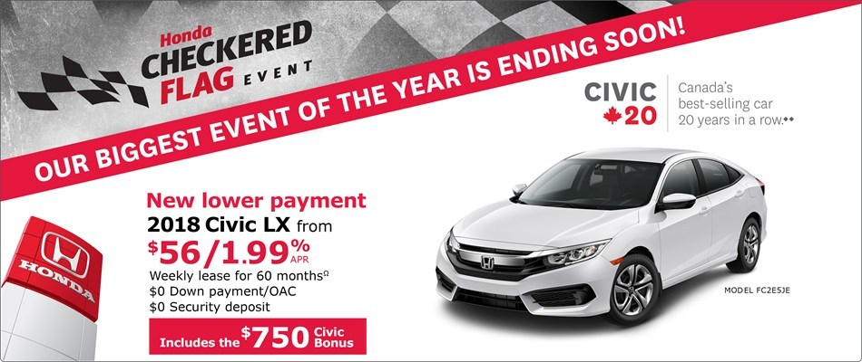 2018 Honda Civic LX | Honda Checkered Flag Event