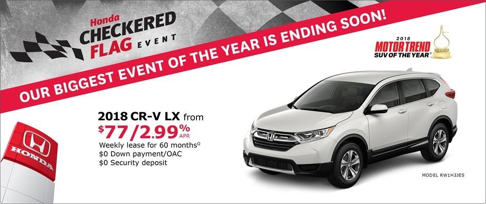 2018 Honda CR-V LX | Honda Checkered Flag Event