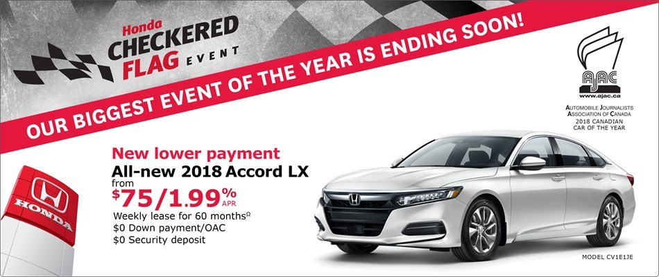2018 Honda Accord LX | Honda Checkered Flag Event