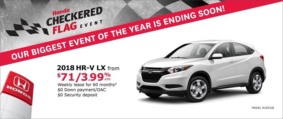 2018 Honda HR-V LX | Honda Checkered Flag Event