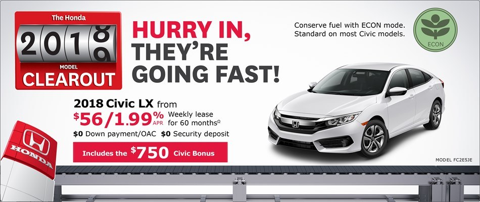2018 Honda Civic LX | Honda 2018 Clearout Event
