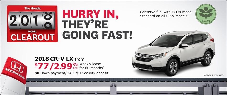 2018 Honda CR-V LX | Honda 2018 Clearout Event