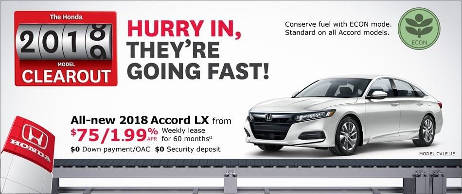 2018 Honda Accord LX   Honda 2018 Clearout Event