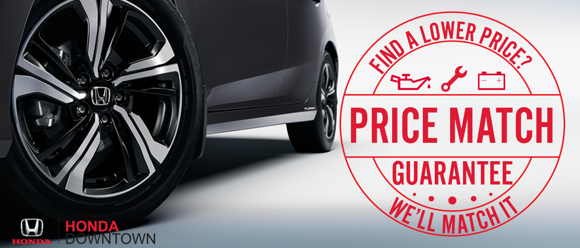 Service Price Match Guarantee | Honda Downtown Service