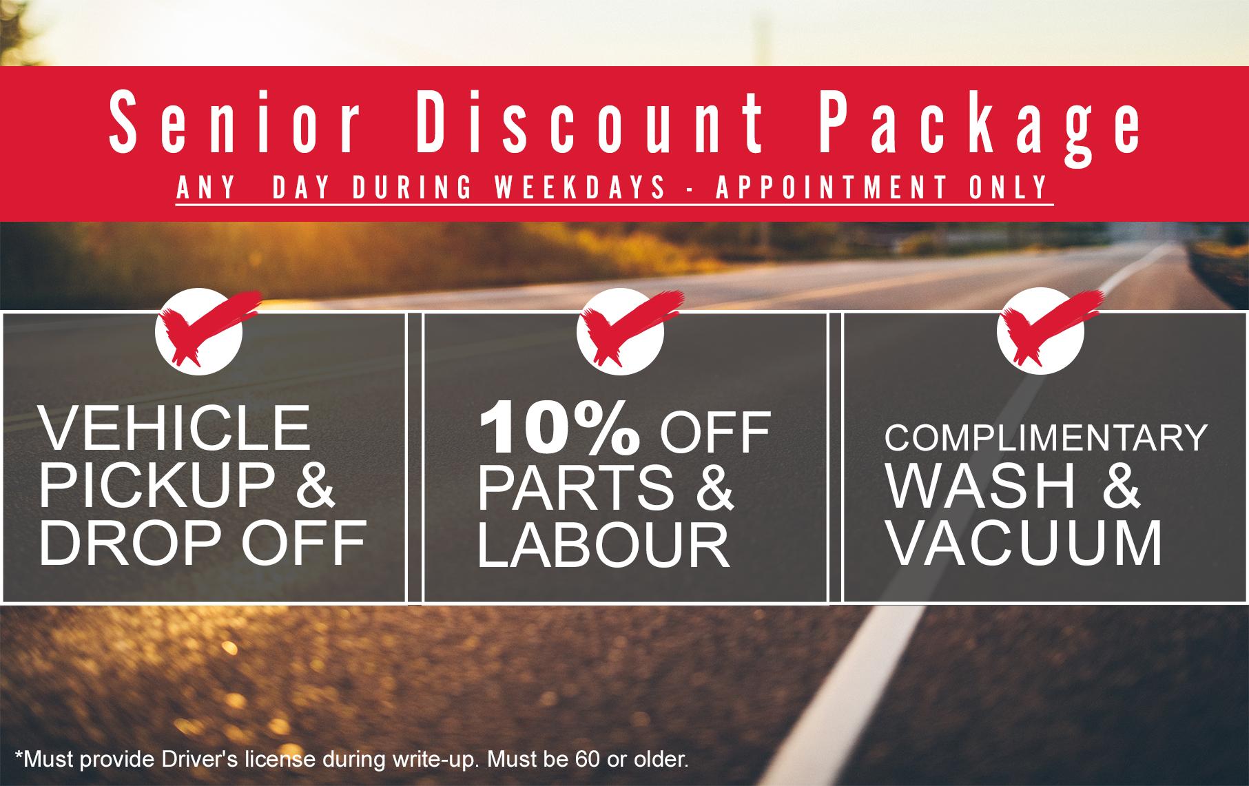 Senior Discount Package