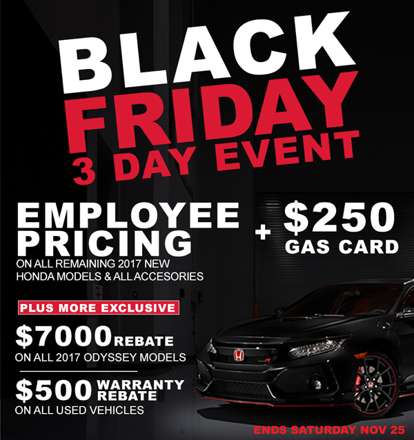 Black Friday 3 Day Event