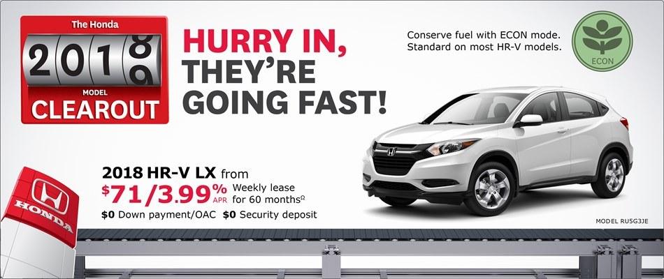 2018 Honda HR-V LX | Honda 2018 Clearout Event