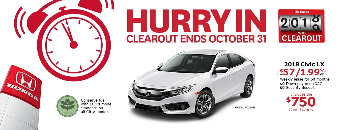 2018 Honda Civic LX | Honda 2018 Clearout Event