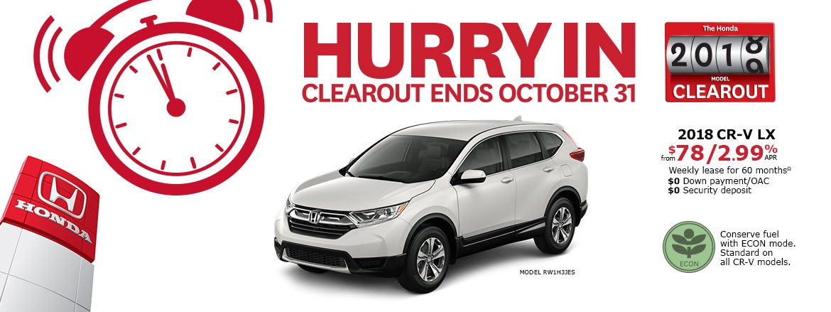 2018 Honda CR-V LX | Honda 2018 Clearout Event