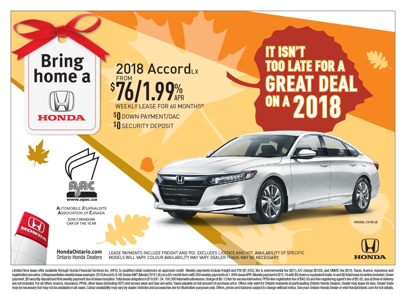 2018 Honda Accord LX | Bring Home a Honda Event