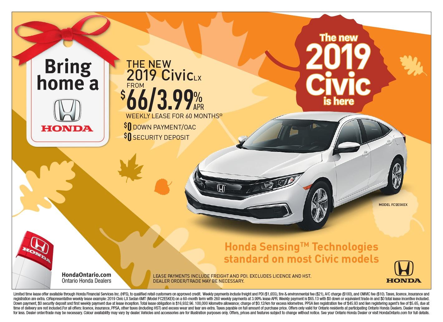 The New 2019 Honda Civic LX | Bring Home a Honda Event