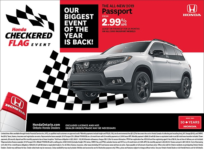 2019 Honda Passport | May Checkered Flag Event
