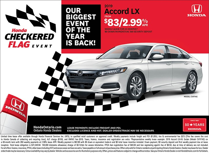 2019 Honda Accord LX | May Checkered Flag Event
