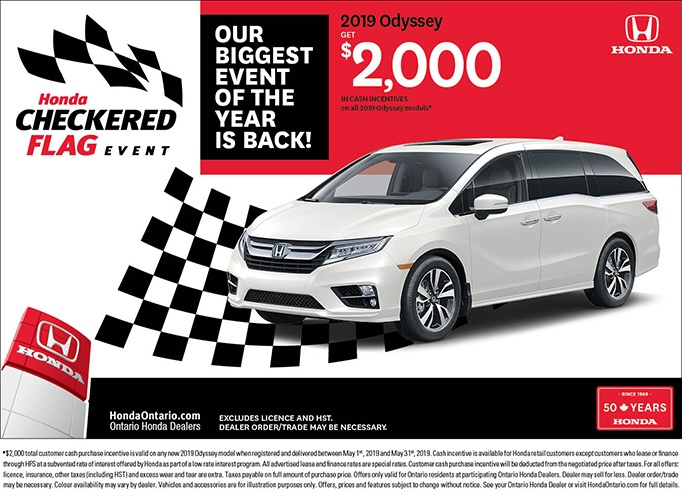 2019 Honda Odyssey | May Checkered Flag Event