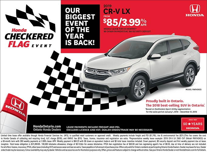 2019 Honda CR-V | May Checkered Flag Event