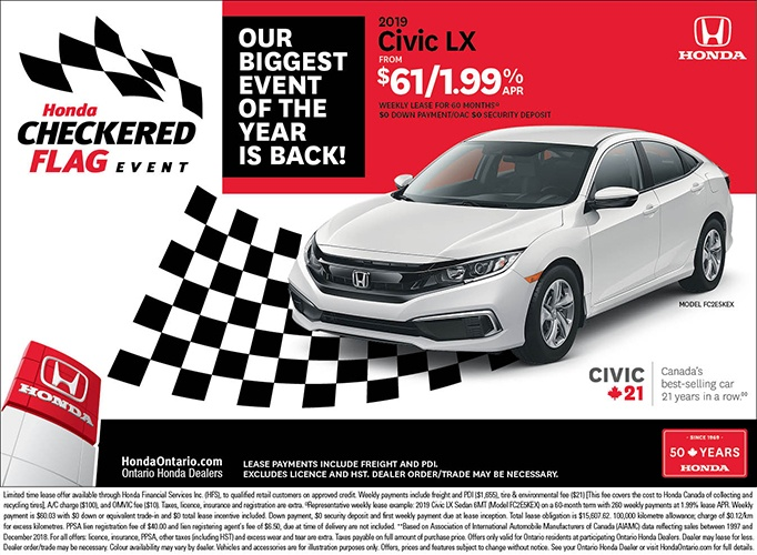2019 Honda Civic LX| May Checkered Flag Event