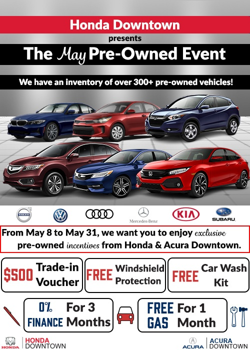 May Pre-Owned Madness Event!