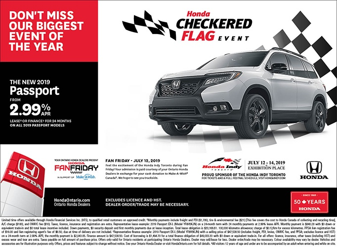 2019 Honda Passport | June Checkered Flag Event