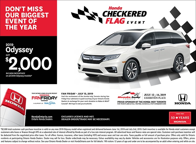 2019 Honda Odyssey | June Checkered Flag Event