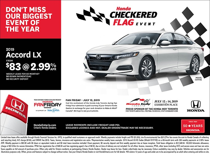 2019 Honda Accord LX | June Checkered Flag Event