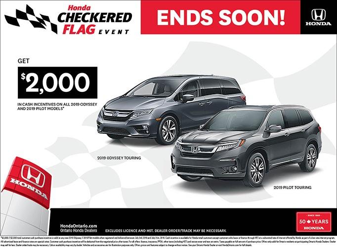2019 Honda Odyssey & 2019 Honda Pilot | July Checkered Flag Event