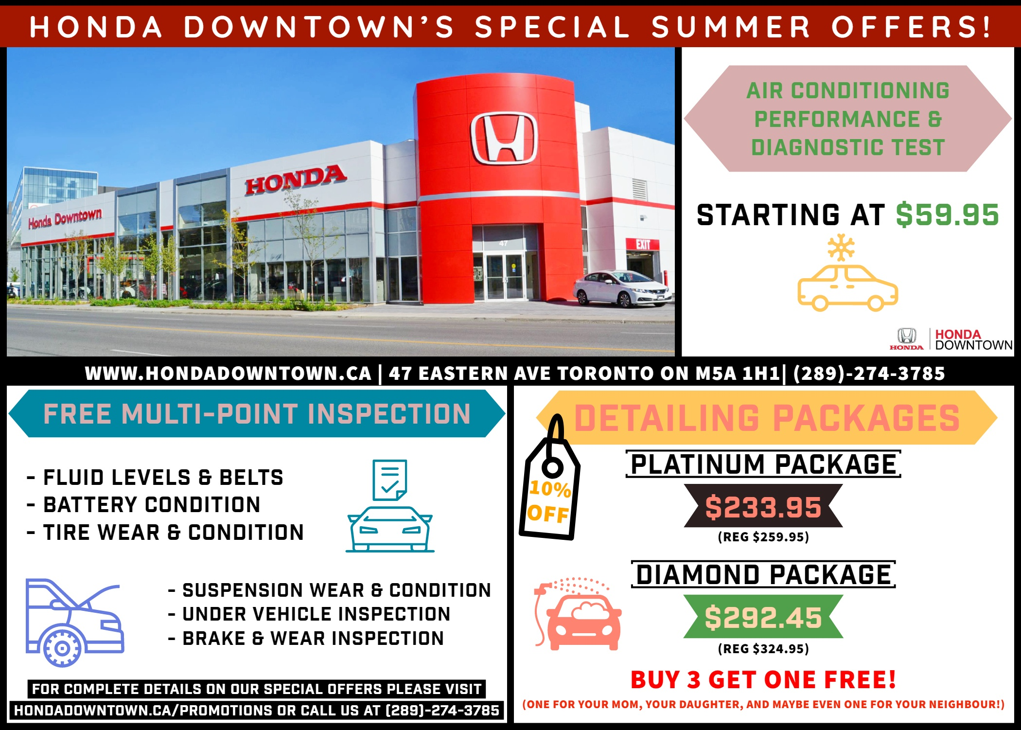 Summer Service Promotions | Honda Downtown Service