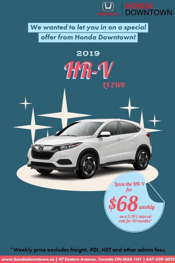 Honda HR-V July 2019