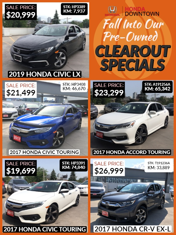 Used Car Specials | October 2019