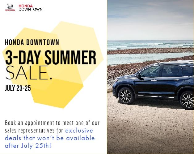 Summer 3-Day Sale
