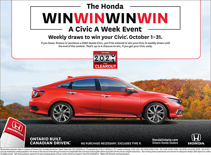 Win a Civic a Week Event