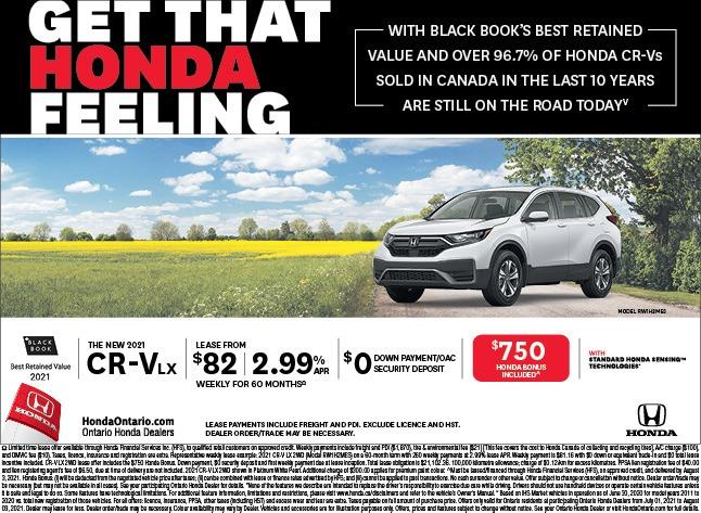 2021 Honda CR-V LX lease