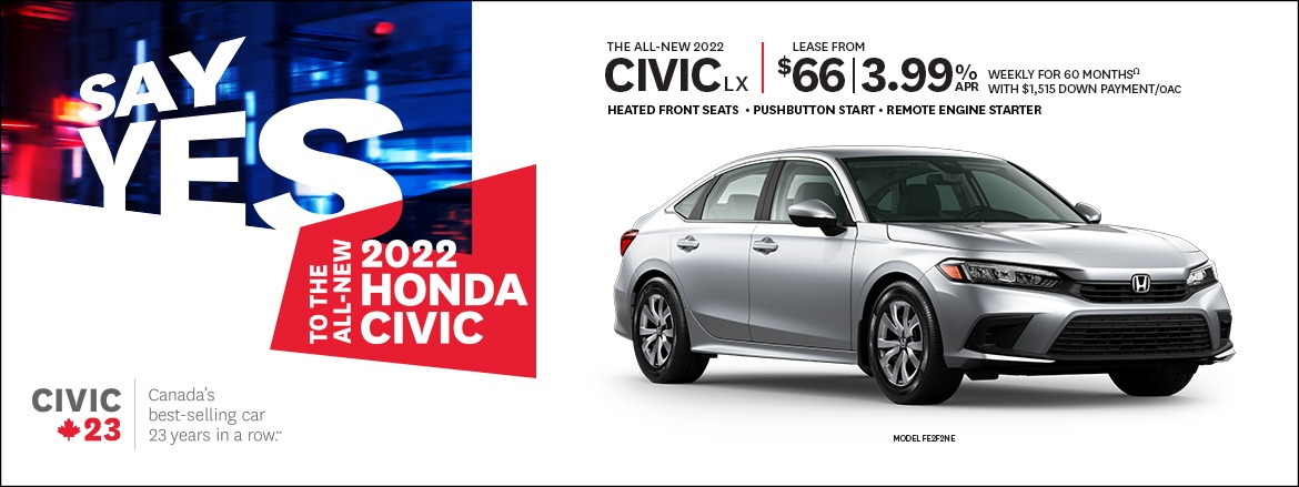 THE ALL-NEW 2022 CIVIC LX