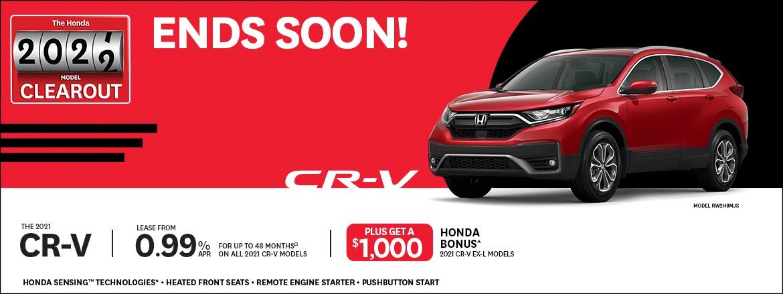 2021 HONDA CR-V EXL RATE + $1000 BONUS